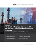 Certificate in Financial Management for Oil and Gas Companies & Petrochemical Industries | Download pdf brochure