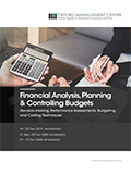 Financial Analysis, Planning & Controlling Budgets | Download pdf brochure