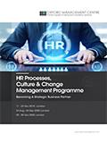 HR Processes, Culture & Change Management Programme | Download pdf brochure