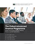 The Oxford Advanced Finance Programme | Download pdf brochure