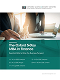 The Oxford 5-Day MBA in Finance | Download pdf brochure